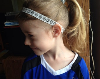 Soccer ball headband in your choice of size