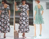 Sewing Pattern-Butterick 3360 Long and Short Dress Size 14,16,18