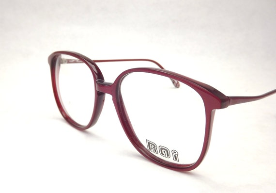 preppy eyeglasses big burgundy red eyeglass frames vintage
