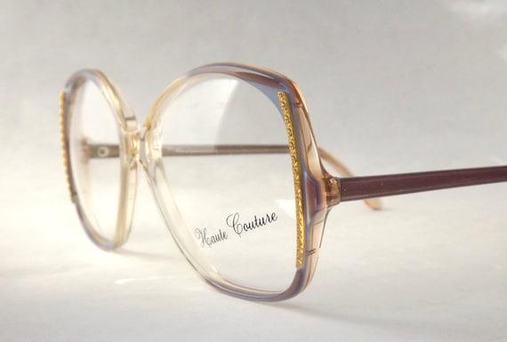 Womens Eyeglasses Big Square Haute Couture Designer Vintage