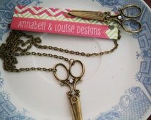 Hairdresser gift Scissor Necklace with matching Bobby pin gift / present / hairdresser / hair stylist
