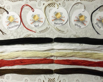 "200 Cotton Tag Strings, Twine, Pre-Cut to 12"" in Natural, White, Black, Chocolate or Red for Gift Tags, Hang Tags"