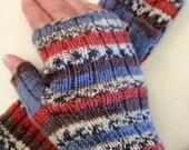 Fingerless gloves, Whistler Fingerless mittens, wrist warmers, Knit, PDF pattern, in 4 sizes