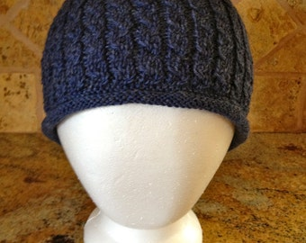 Jules Mock Cable Knit Hat Pattern by Double Diamond Knits       permission to sell finished hats