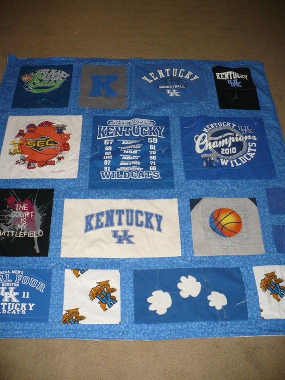Kentucky Uk Wildcat Tshirt Quilt By Bcmead On Etsy