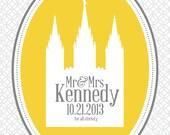 "Mr & Mrs Temple - 8x10"" - Customizable - Anniversary gift - Digital Download"
