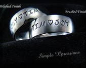 Personalized Mother's Ring - Brushed or Polished Finish - 8mm Width