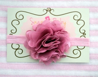 baby headband...baby headband..baby girl headband...dusty pink headband..newborn headband..girl headband..photography prop