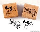 50% OFF SALE - cat And dog Rubber Stamps set