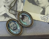 Hand painted Cameo Locket