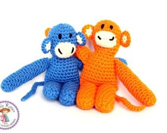 Monkey Crochet Plush Toy - You Choose Color - Ready to Ship