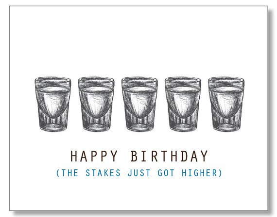 HAPPY BIRTHDAY DUDE Alcohol Card Hilarious Funny Card for – Happy Birthday Funny Cards