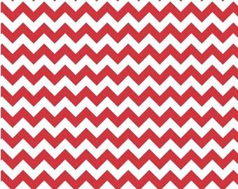 Small Chevron Red  by Riley Blake Designs Fat Quarter Cut