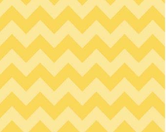 Medium Chevron Tone on Tone Yellow  by Riley Blake Designs 1 yard cut