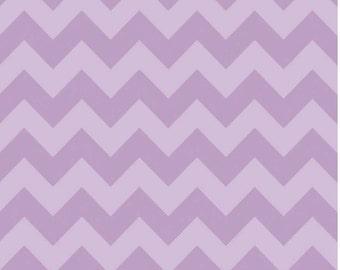 Medium Chevron Tone on Tone Lavender by Riley Blake Designs Half Yard Cut