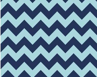 Medium Chevron Tone on Tone Navy by Riley Blake Designs 1 yard cut