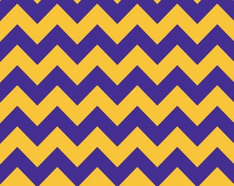 Medium Chevron Purple/Gold by Riley Blake Designs 1 Yard Cut