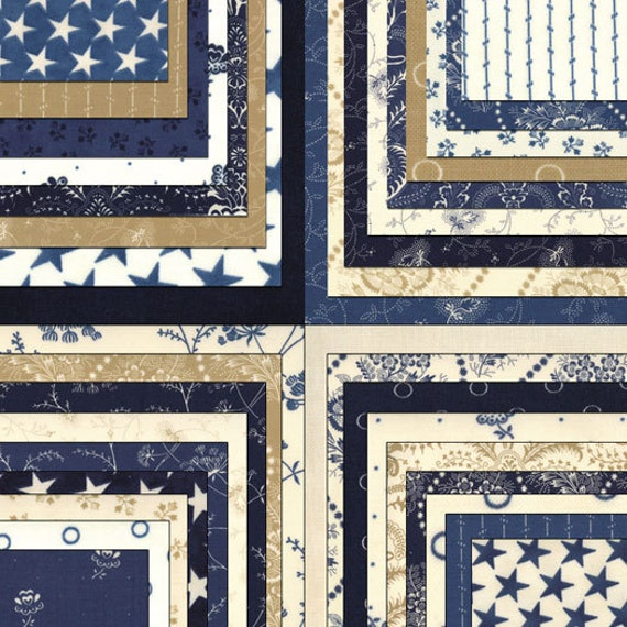 Indigo Crossing Jelly Roll Moda Fabrics Quilt Fabric Strips