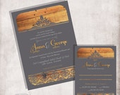 Wood Wedding Invitation / FILE ONLY