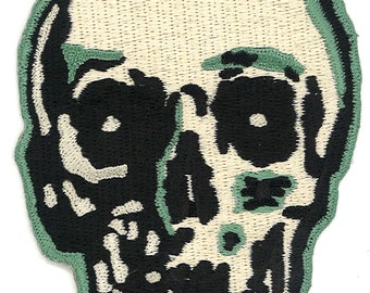 "4"" Skeleton Monster Skull Iron on PATCH Biker Punk Rock Motorcycle Goth Gothic Horror Anarchy Roller Derby Skate Skater Emo Shoulder"