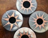 Handmade Porcelain Ikebana Flower Vase - Starry Night