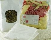 Lotus Birth Kit - containing Yellow Placenta Bag made from antique Kimono