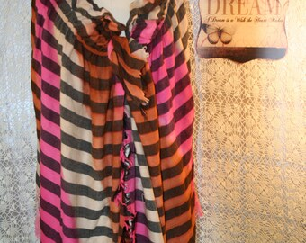 Upcycled Bohemian Shawl Tattered Tasseled Boho Chic Cape Bojo Gypsy Wrap Hippie Cloak