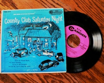 vintage Tunes ... Country Club SATURDAY NIGHT 45 RECORD in Sleeve ...