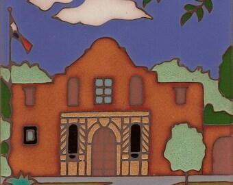 The Alamo Mission in San Antonio Texas, ceramic tile hand painted