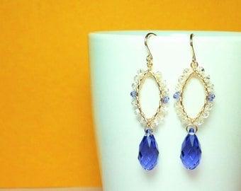 Beautiful Handmade Wire-wrapped Swarovski Crystal Earrings