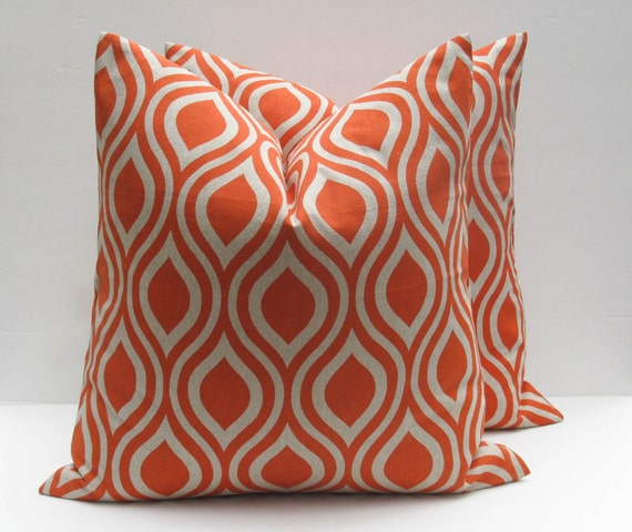 Orange Decorative Pillows Couch : Decorative Throw Pillow Covers Orange Pillow 18x18 Pillow Toss