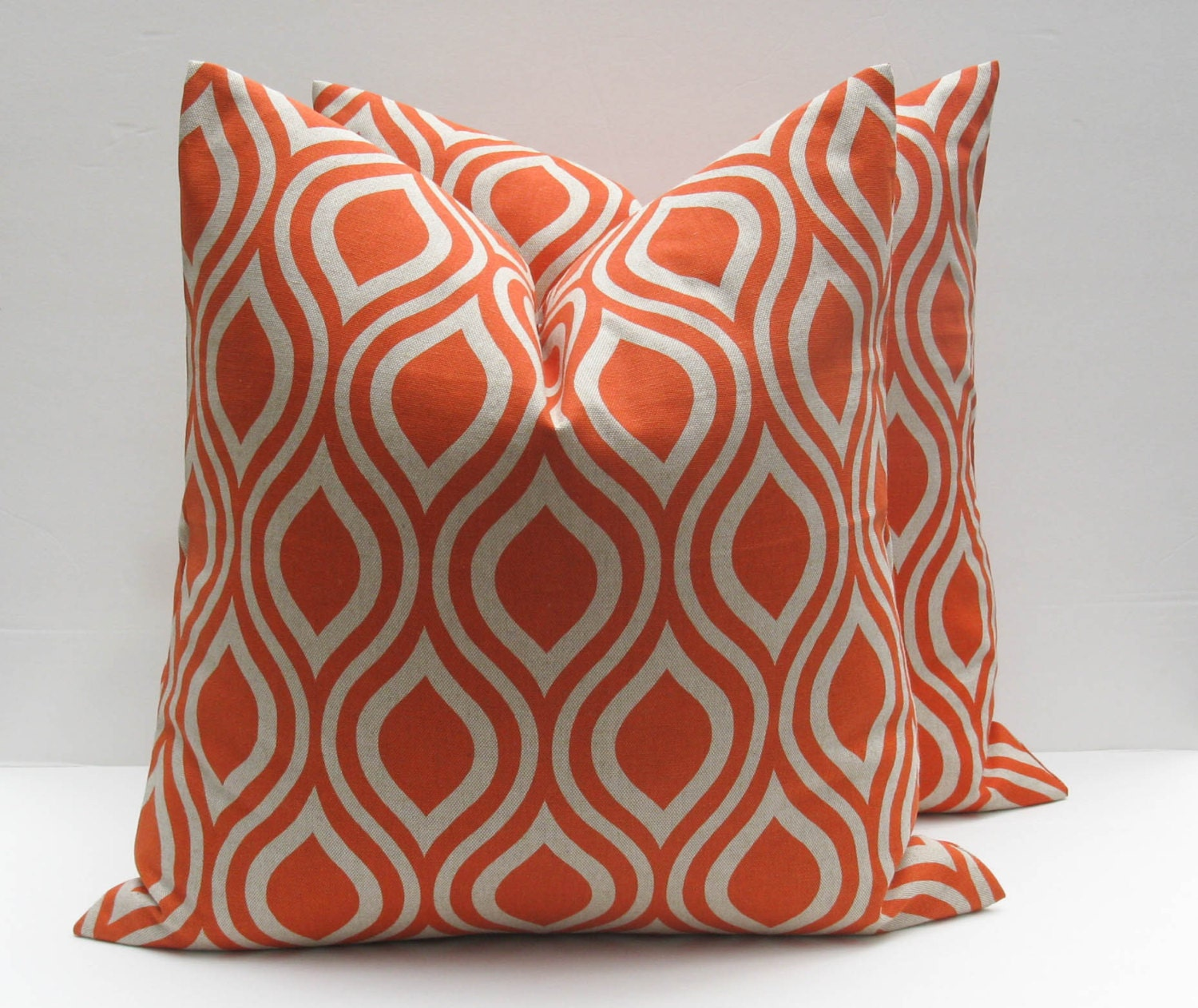 Decorative Throw Pillow Covers Orange Pillow 18x18 by EastAndNest