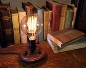 Edison Lamp Nostalgic - Steampunk Lamp - Steampunk Light - Desk Lamp - Table Light - Industrial Light - Desk Light - Unique Light