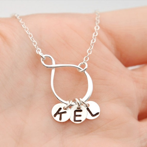 items similar to inifnity necklace personalized necklace. Black Bedroom Furniture Sets. Home Design Ideas