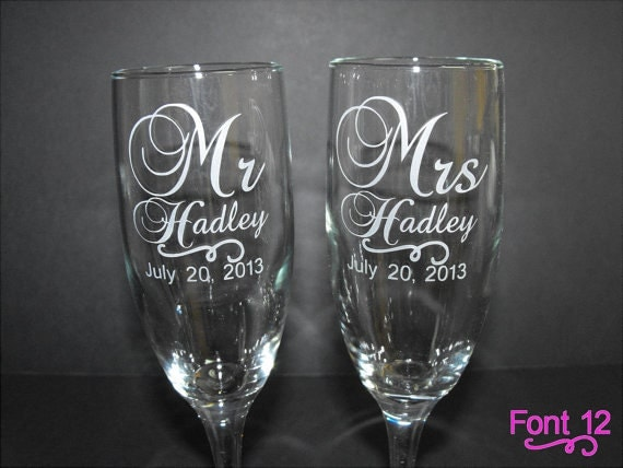 personalized wedding toasting glasses custom engraved wedding