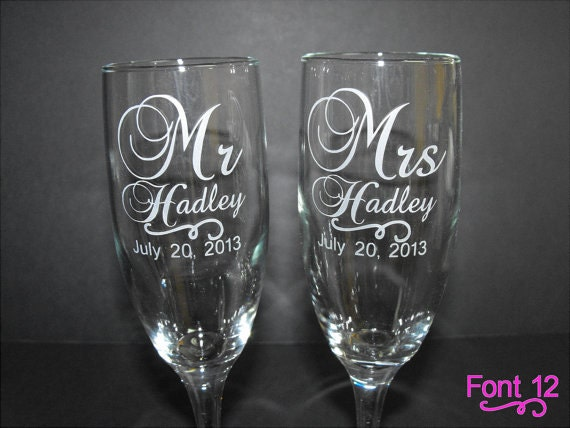 toasting glasses custom engraved wedding glasses toasting