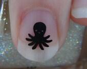 Octopus Nail Art Decals Set of 50 Vinyl Stickers Applique Manicure Pedicure Party Event Accessories
