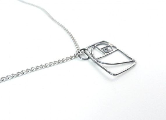 small fibonacci spiral necklace