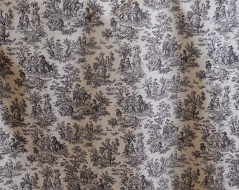Black and White Toile Fabric by Waverly, Rustic Life