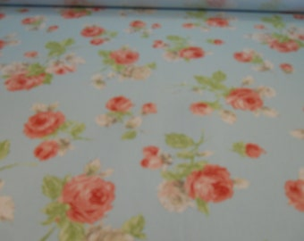 """100% Cotton Fabric, P. Kaufman, """"Porterdale"""" Spring ,Cottage, Shabby Chic All Over Floral Print"""