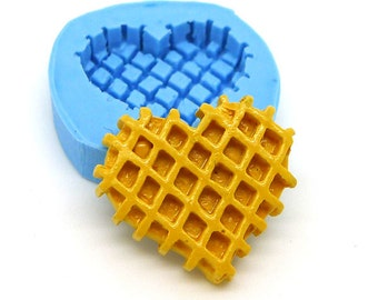 Heart Waffle Mold 24mm Miniature Food Mould Fake Food Mould Fake Sweet Mould Flexible Push Bakery Mould Silicone Mould 516m BEST QUALITY