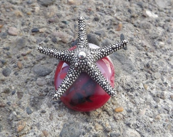 StarFish Pendant, Beach, Glass Jewelry, Star Fish, Fused Glass Pendant