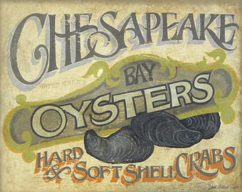 Chesapeake  Bay Oysters Print
