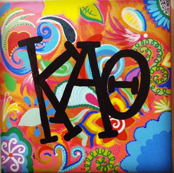 Paisley Kappa Alpha Theta Sorority Canvas