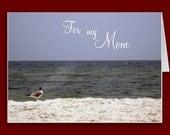 Ocean Beach View Mother's Card Inside Poem 5x7