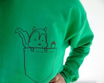 Squirrel In a Pocket Sweatshirt