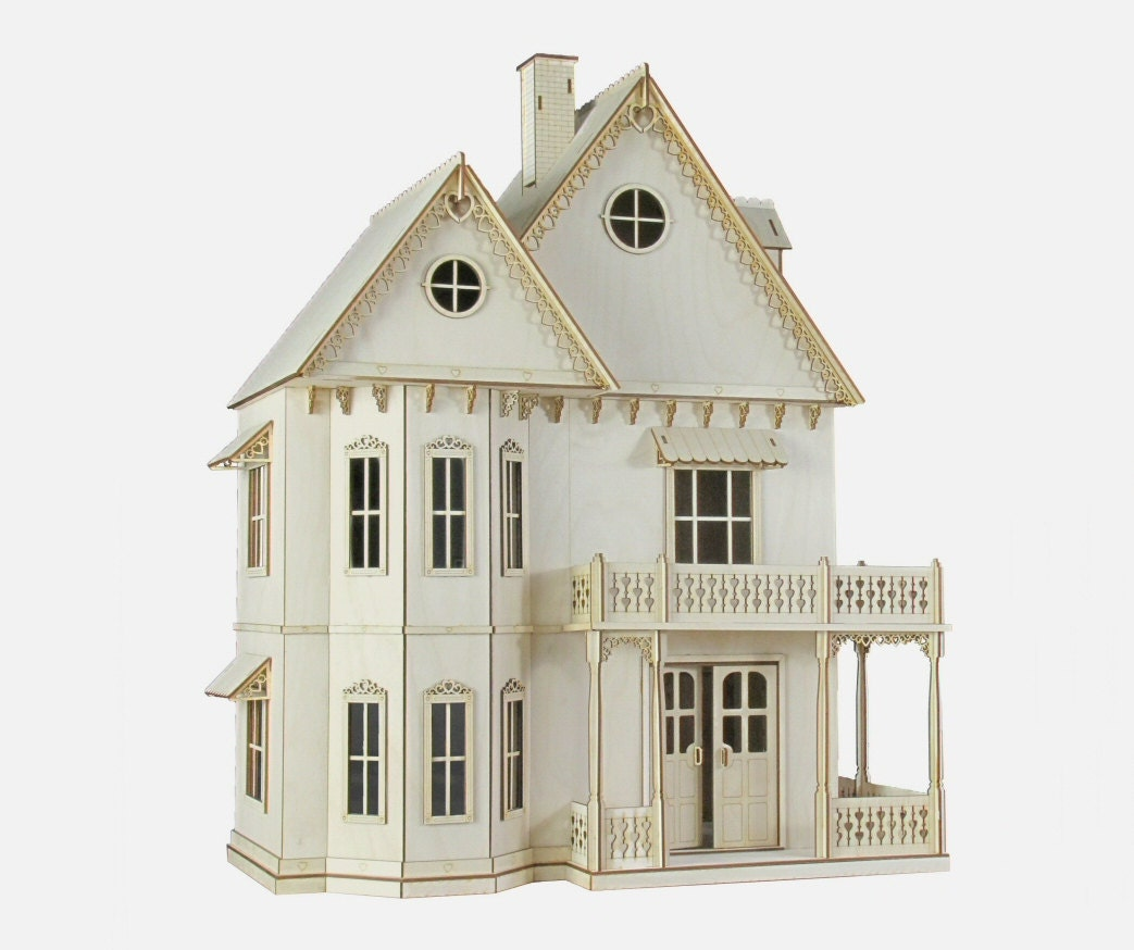 gingerbread victorian dollhouse kit by journeyproductions. Black Bedroom Furniture Sets. Home Design Ideas