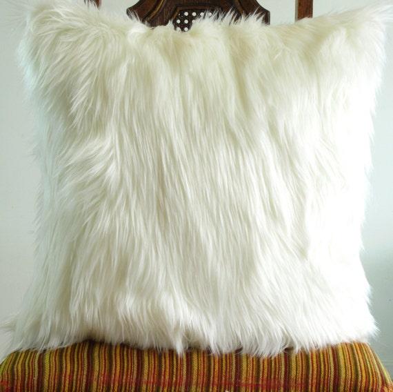 Decorative Pillow Covers 22 X 22 : White fur pillow covers 22 X 22 decorative white fur white