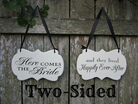 Decorative Wooden Wedding Sign Ring Bearer Sign Flower Girl Sign