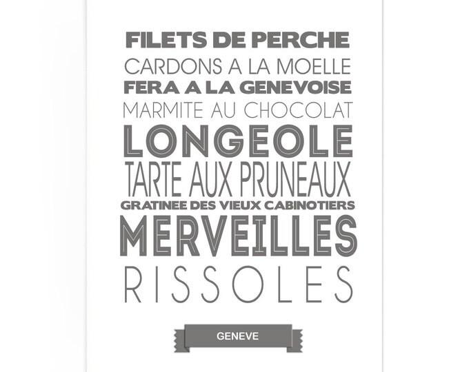 Poster Geneva Food Specialties